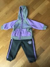 Baby Girl Lilac & Grey Lonsdale Tracksuit 3-6 Months