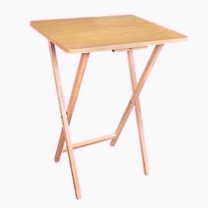 New Portable Folding Table Wooden Breakfast Dinner Side Table Desk Tray TV UK