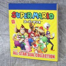 SUPER MARIO ALL STAR SEAL STICKER COLLECTION Art Japan Book SG8849