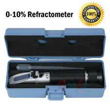Salinity Refractometer Fish Tank Aquarium Hydrometer 0-10% Salt Water Tester Set