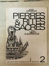 Société des Océanistes * Dossier N° 2 *  Pierres & Rites Sacrés * José Garanger