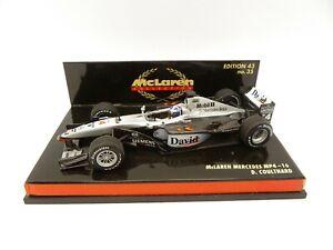 Mclaren Mercedes MP4-16 David Coulthard #4 2001 MINICHAMPS 1/43 F1 IN Box