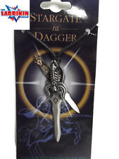 Stargate Dagger Charms Pendant Gothic Necklace Wicca with Black Leather Cord