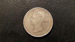 1900 CANADA QUEEN VICTORIA SILVER HALF DOLLAR 50 Cent Coin CIRCULATED