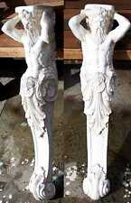Greek Italian Sculptures pare of Tritons. Corbels great arch shelf support 78 cm