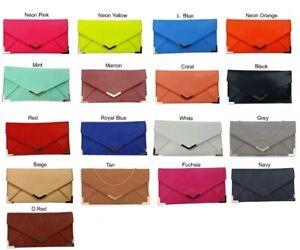 CL Women Envelope Clutch Evening Bag/ Wedding party/ Faux Leather chain handle