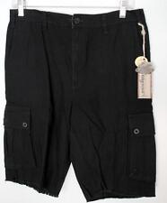 Planet Earth Pantalones cortos size 30 Negro Militar NUEVO CON ETIQUETA NOS