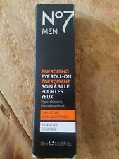 Boots No7 Men Energising Eye Roll-On Daily Care Sensitive 15ml 0.5 oz - NEW!