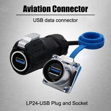 Enchufe de conector LP24-USB a prueba de agua para computadoras industrial Torres De Señal