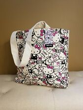 Hello Kitty Sanrio Canvas Tote Pink Black New