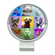 American Fido Dogs Sunglasses Rainbow Golf Hat Clip With Magnetic Ball Marker