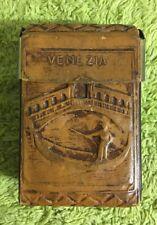 Vintage Leather Cigarette Case - Made In Venezia Italy 70s / 80s