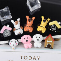 2-3cm Resin Cabochons Random Dog and House Craft Jewellery Accessories 10 pcs
