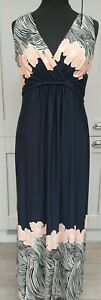 Ladies Maxi Dress With Wrap Top From Principles Ben De Lisi Size 14