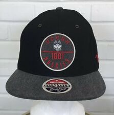 high quality release date 50% off New UCONN Connecticut Huskies Zephyr Flat Bill Black Gray Hat Cap ...