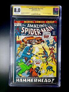 Amazing Spider-Man #114 CGC 8.0 Signed By John Romita (Marvel 1972)