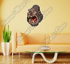 "Ape Monkey Gorilla Angry Face Gift Idea Wall Sticker Room Interior Decor 20""X25"""