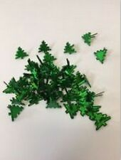 Photo Fun Green Christmas Tree Brads embellishment Toppers for cards and crafts