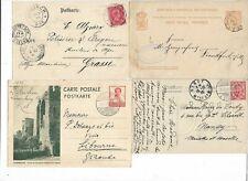 LUXEMBOURG cartes et entiers 1881, 1899, 1908 et 1936 (2 scans)