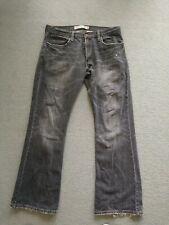 Vintage Levis 527 Boot Cut Black Denim Jeans Sz W34 (35) L30 (31)