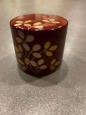 Japanese Asian Yamaga Lacquerware Paperweight  Zhu Hagi Makie Round Pred Gold