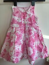 GEORGE LITTLE GIRLS PINK WHITE FLORAL PARTY PRETTY NET DRESS SIZE 2-3 Years VGC