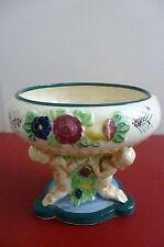 Vintage 1920/30's Japanese Maruhon Ware Pedestal Dish, Cherub & Floral design