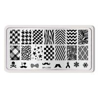 Classic Design Nail Art Stamp Template Image Plate BORN PRETTY L006 12.5 x 6.5cm