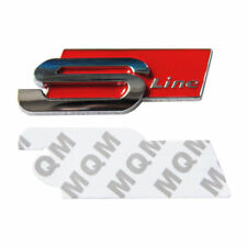 *NEW* S Line Red 8x3cm 3D Metal Self Adhesive Sticker Audi A3 A4 A5 A6 A7 Q3