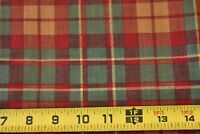 By 1/2 Yd,Vintage, Red Green & Gold Plaid Quilt Cotton, P908
