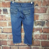 Maurices Capri Cropped Jeans Size 3/4 Juniors Thick Stitch