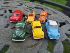 6 Corgi Cars, Morris Minor, Mini, VW, VW hot rod & 2CV