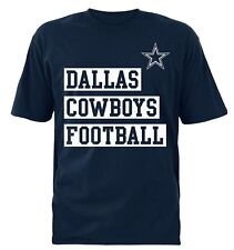 Dallas Cowboys NFL Men's Team Logos Navy Short Sleeve Graphic T-Shirts: M-2XL