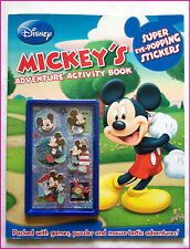 DISNEY - MICKEY MOUSE - ADVENTURE ACTIVITY BOOK Puzzles Games, Stickers & More