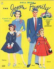 Vintage 1961 Jones Family Paper Doll Lasr Reprodctn~Org Sz Unct Free Sh No1 Selr