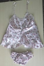 LADIES SATIN CAMI TOP AND SHORT PYJAMA SET BABY DOLL SET UK SIZES 8-22