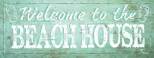 Welcome to The Beach House Metal Signs, Beach Decor