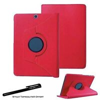 Housse Etui Rouge pour Samsung Galaxy Tab S2 9.7 SM-T810 Support Rotatif 360°