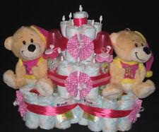 Windeltorte Zwillinge Baby Taufe Geburt Geschenke zur Geburt 114
