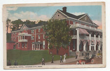 EARLY 1920's Colonial Hotel Johnson City Tennessee Tn Postcard People Cars