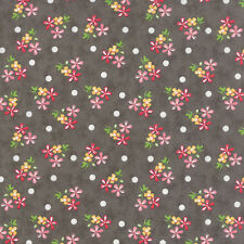 Prairie small floral  taupe with dot  By the yard cotton print Corey Yoder Moda