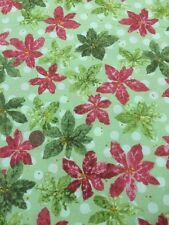 Nancys Holiday Favourites 2369 Halvorsen Benartex 100% Cotton Fabric Green Red