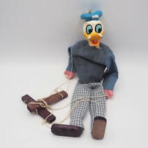 Vintage Walt Disney Donald Duck Marionette Puppet Handmade