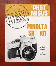 Phot Argus Minolta Srt 101 Test Report, May 1968/211814