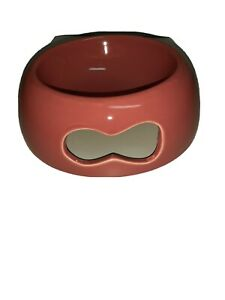 Y YHY Ceramic Dog Food Bowl, Red, open box.  FREE SHIPPING