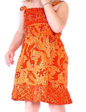 Robe Bébé 6-12 Mois Enfant Ethnique 1 an Batik Vêtement Fille /Orange
