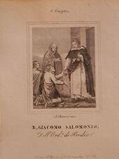 Geato Giacomo Salomoni acquaforte originale Banzo 1840 Roma Venezia Forlì