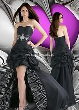 BNWT XTREME PROM GOWN DRESS 32202 SIZE 02 IN BLACK/ZEBRA *RETAIL $438*