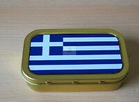 World Flags Greece 1 & 2oz Tobacco/Storage Tins