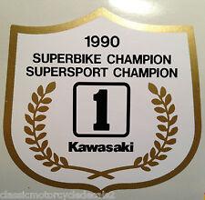 KAWASAKI ZXR 750 ZX-R7 750 ZX-7 ZX7RR NINJA SCOTT RUSSELL SUPERBIKE DECAL CREST